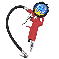Portable Tire Inflator Digital Tire Pressure Gauge With Lock-on Air Supplies
