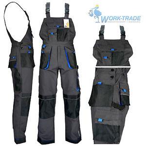 arbeitshose latzhose arbeitskleidung herren hose grau schwarz blau gr 46 62 ebay. Black Bedroom Furniture Sets. Home Design Ideas