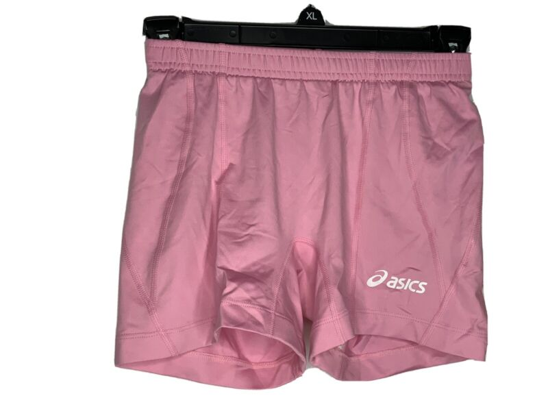 Painstaking Asics Womens Pink Athletic Baseline Volleyball Shorts Bt500 Activewear Xsmall