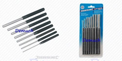 New Silverline 8Pce PIN PUNCH SET Hand Tools Mechanical Metal Holes Drill Punch✔