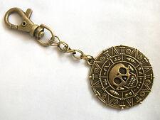 A Pirates of the Caribbean Aztec coin Medallion Skull Keyring Handbag, Bag Charm
