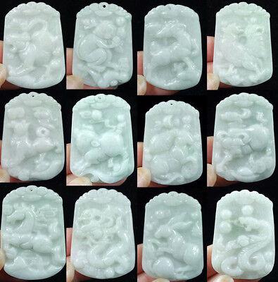 100/% China/'s natural jade nephrite carving black jade pendant 喜上眉梢