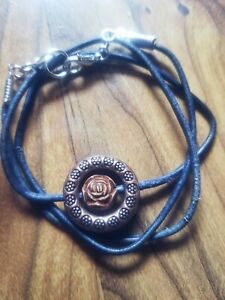 womens-handmade-unique-wooden-love-rose-on-2mm-blue-leather-fashion-bracelet