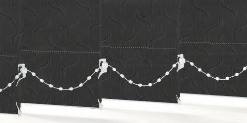 VERTICAL BLIND FABRIC 89mm 3.5inch DOLPHIN BLACK