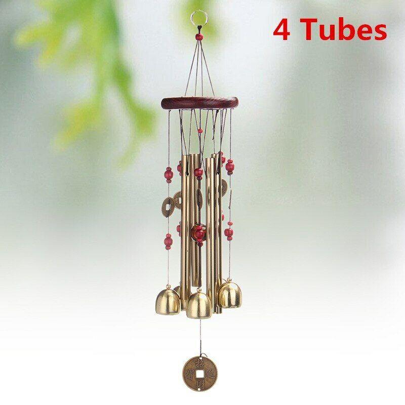 Wind Chime Pendant Wood Pitch Pipe Big Bell Ornament Garden Door Hanging STX