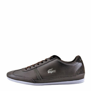 be73ff957f866 Lacoste Misano Sport 118 Dark Brown   White Men s Lace Sneaker ...