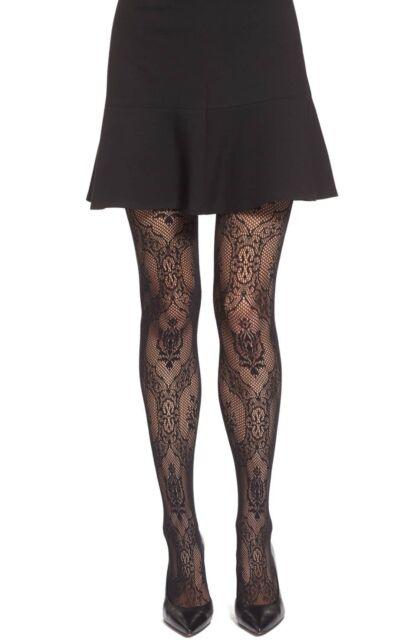 7ba006b35d8 Oroblu 0323 Womens Lucrezia Lace Fishnet Black Tights Size L xl for ...