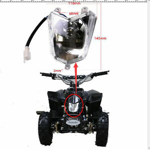 Atv Front Light Headlight For 50cc 70cc 90cc 110cc 125cc Mini Atv Quad Bike Buggy Atv,rv,boat & Other Vehicle