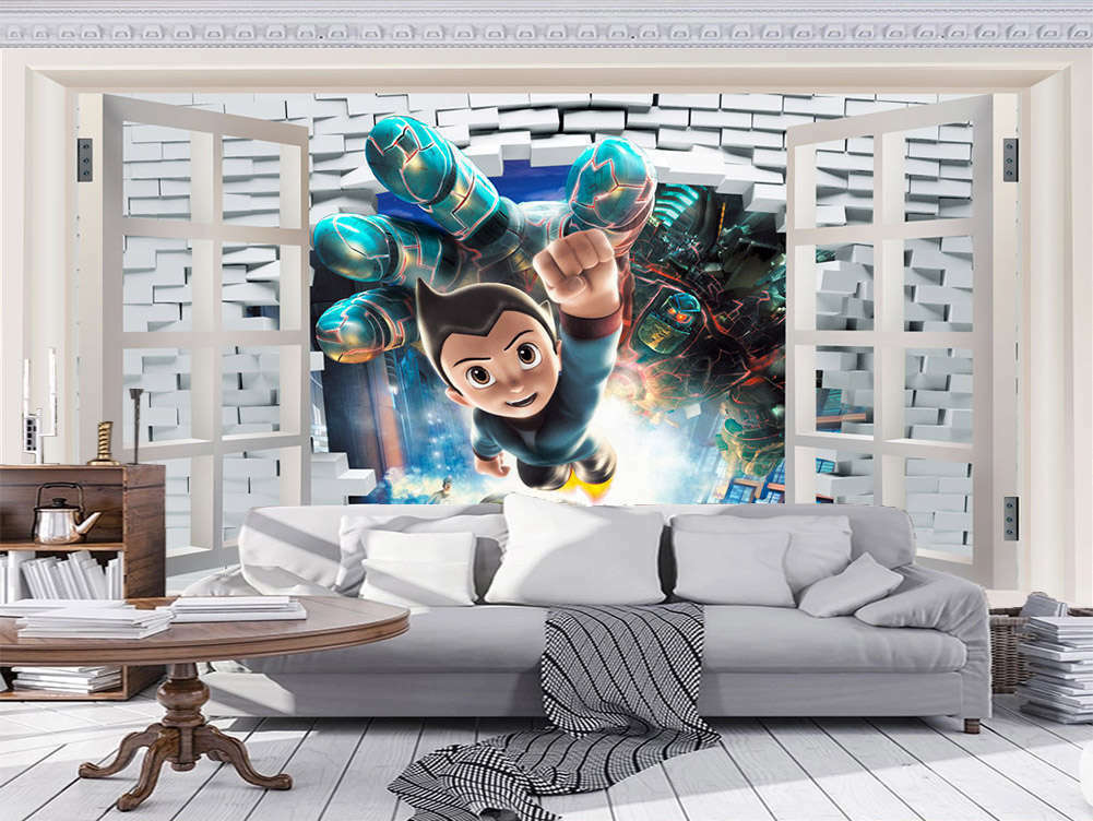 Ample Dismal Robot 3D Full Wall Mural Photo Wallpaper Printing Home Kids Decor