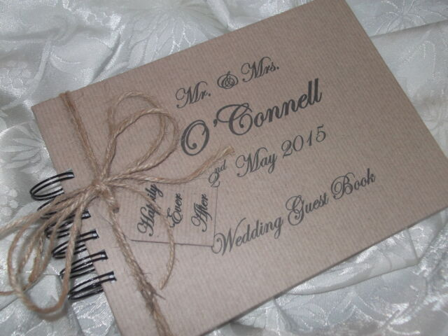 PERSONALISED VINTAGE LUGGAGE WEDDING GUEST BOOK/ENGAGEMENT/ANNIVERSARY SHABBY