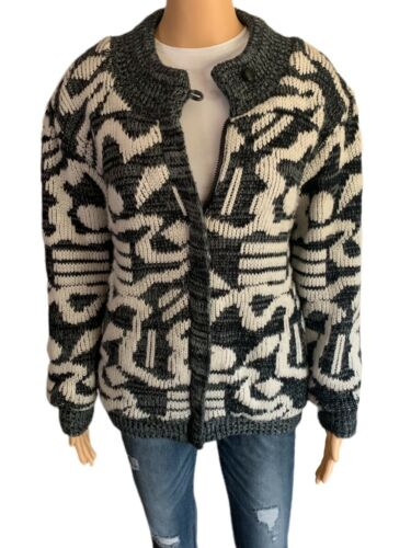 Chimayo Knit Sweater Jacket 80s Vintage Jacket Bo… - image 1