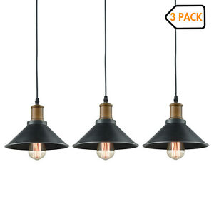 Mini Ceiling Hanging Light Metal Black