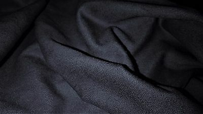 top qualite tissu milano  col marine fonce 50x140 cm