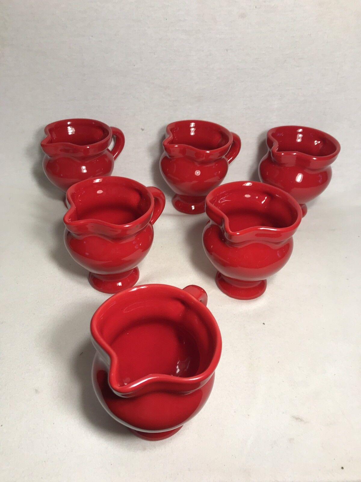 Lot 6 Anciens Pichets Céramique rosso Style VALLAURIS Cuisine Vintage x6