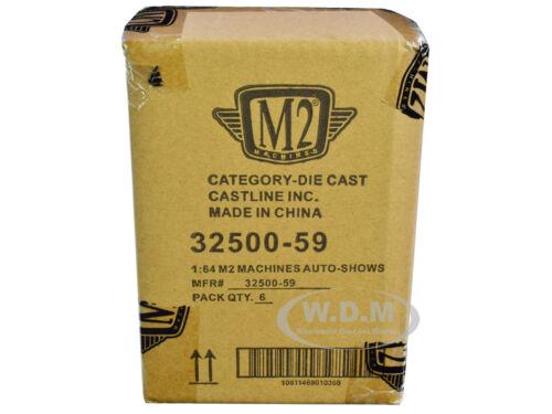 AUTO SHOWS 6 PIECE CAR SET RELEASE 59 IN CASES 1//64 DIECAST M2 MACHINES 32500-59