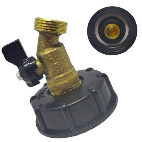 IBC Water Tank Adapter Connector Converter 2/'/' To Garden Garden Hose Ball Valve