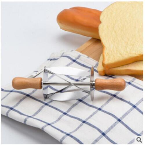 EXPEDITE Stainless Steel Wooden Rolling Croissant Dough Pastry Cutter New s