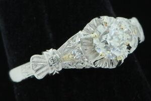 Art Nouveau (ca. 1927) Platinum .745ct Diamond Ring (Size 8)