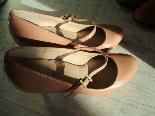 Janes Kurt Buckle 4 Shoes Peach Geiger Uk Ladies Mary Miss Patent New Kg Eu37 WnqHAzXq