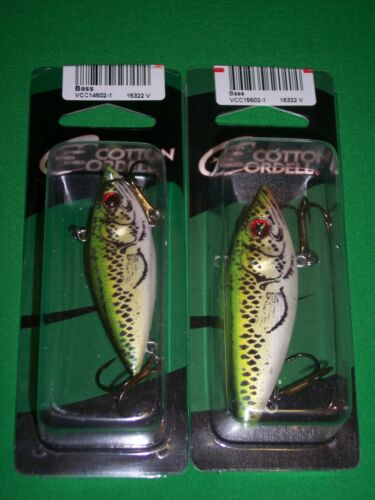 """2 Pk Cordell Rattle Spot Rattle Trap Bass 2.5/"""" /& Bass 3/"""""""