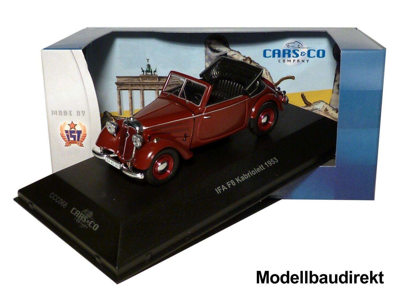 IFA F8 Cabriolett Bj 1953 in Weinred 1 43 IXO   IST CCC068 Cars & Co NEU & OVP