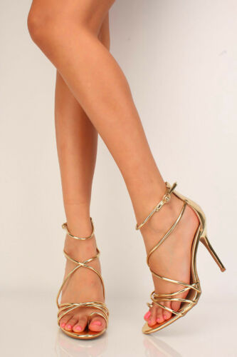 Silver Black Gold Rhinestone Accent Open Toe Wedges Heels Faux Suede Leather