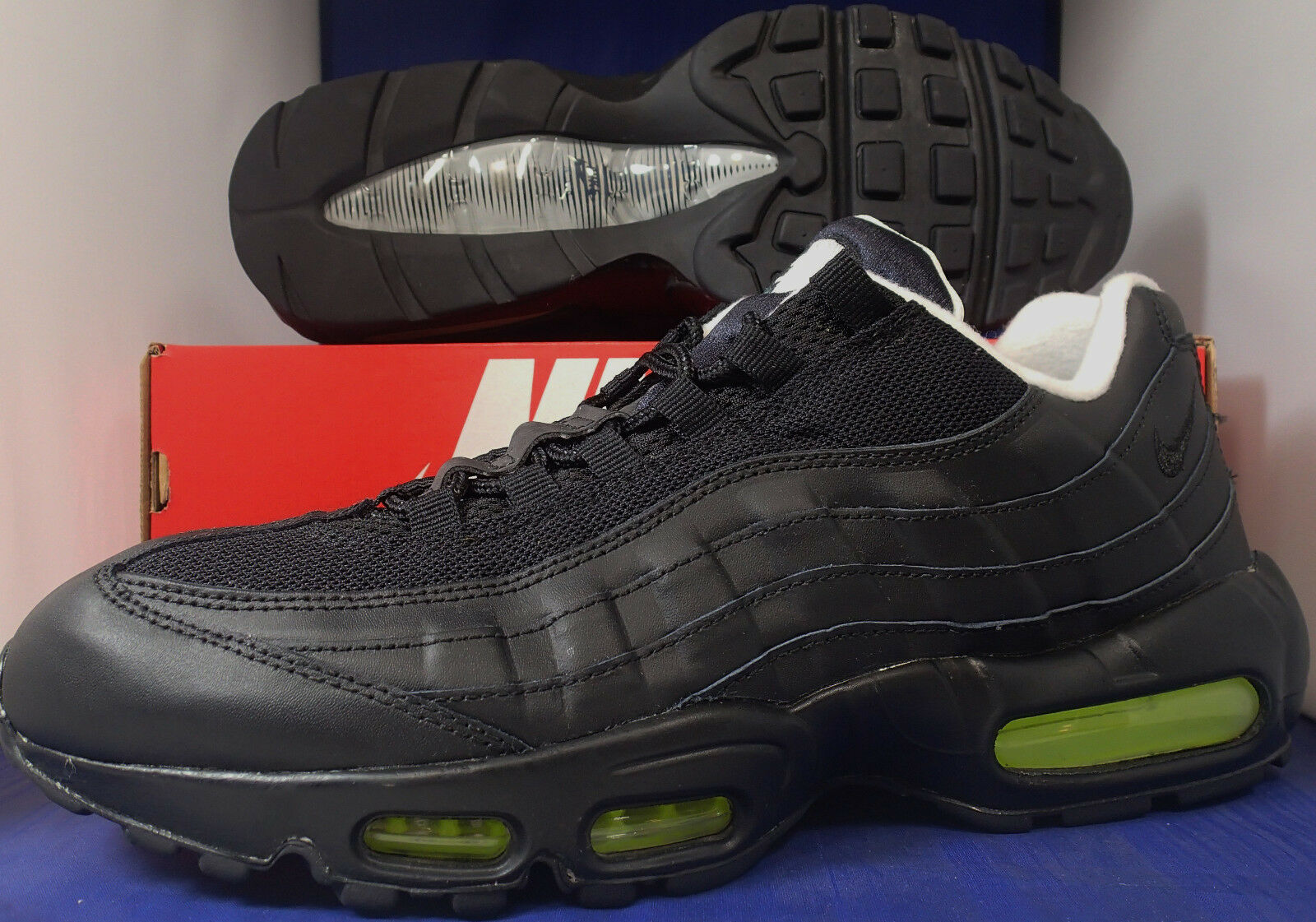 Nike Air Max 95 iD Black White Volt Price reduction