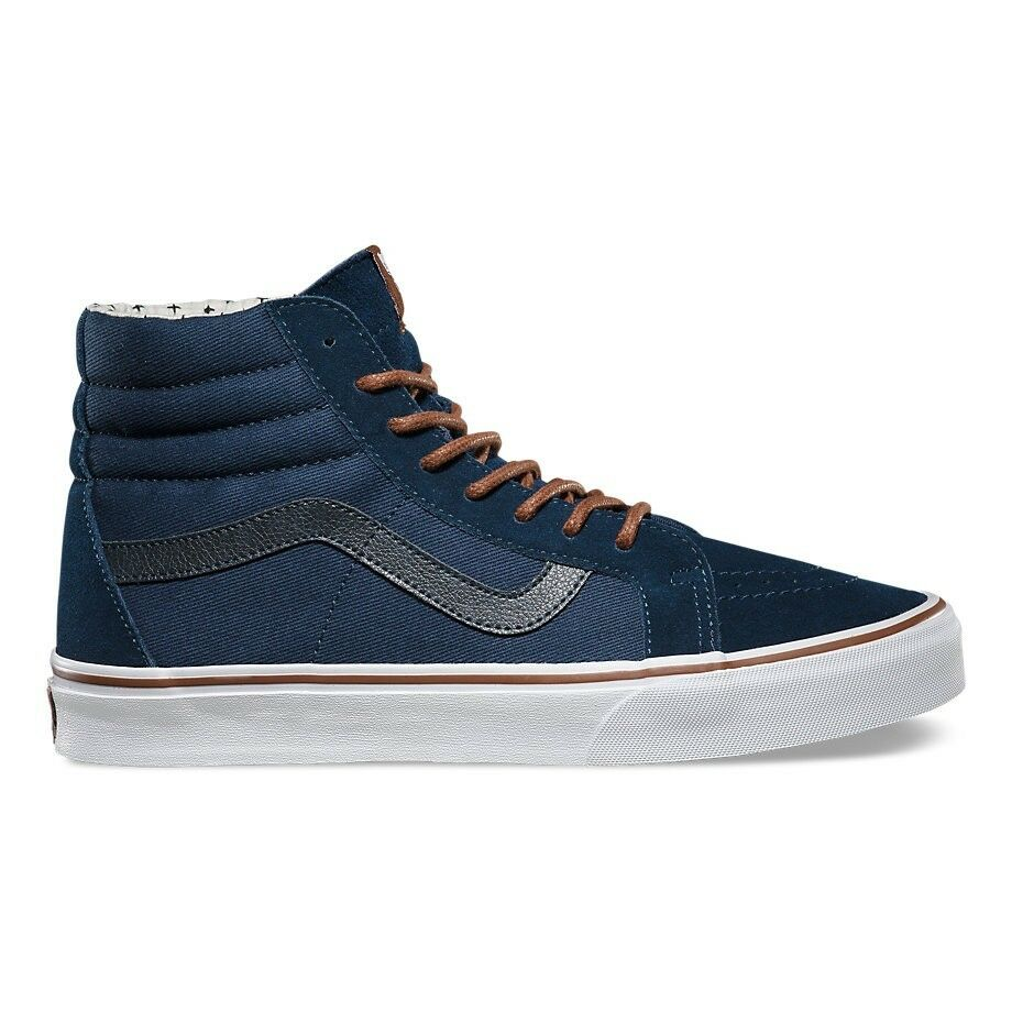 Vans Sk8 Hi Reissue (TS) Dress Blues Plus Skate Shoes Uomo Size 8.5