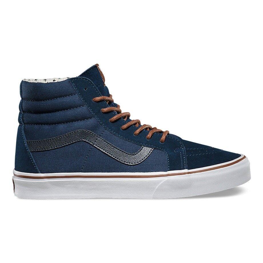 Vans Sk8 Hi Reissue Plus (T&S) Dress Blaus Plus Reissue Skate Schuhes Damenschuhe Größe 8 2e4c15