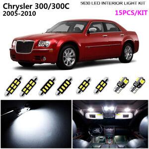 Details About 15pcs 5630 Xenon White 6k Interior Light Kit Led For 2005 2010 Chrysler 300 300c