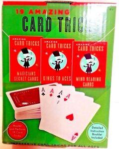 New-Magic-CARD-TRICKS-19-amazing-tricks-new-in-factory-box