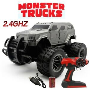Large Remote Control Rc Kids Big Wheel Swat Toy Car Monster Truck