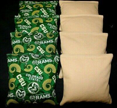 COLORADO STATE RAMS Cornhole Bags SET of 8 ACA REGULATION Baggo Bean Bags