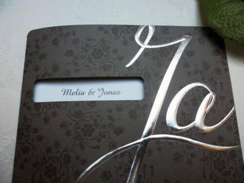 """Einladung zur Hochzeit personalisierte Hochzeitskarte blanko /""""Ja/"""""""