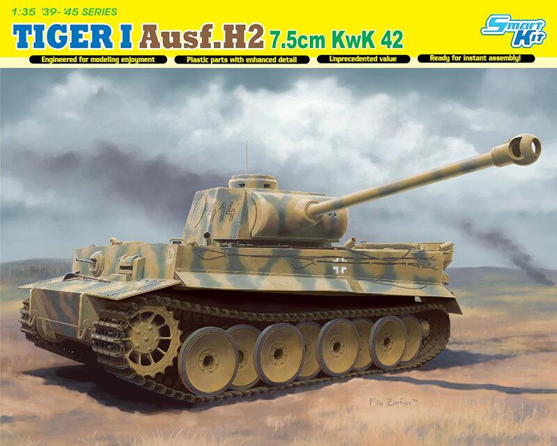 Dragon 1  3 5 6683  PANZER TIGER I ausf.h2 7.5cm cc 42