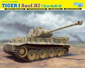 Dragon 1:3 5 6683: Réservoir Tiger I Ausf.h2 7.5cm Cc 42