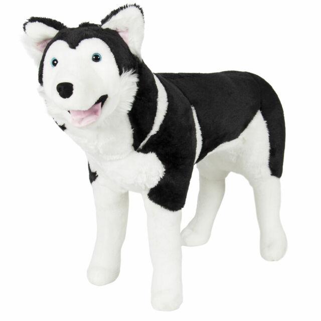 Realistic Husky Dog Large Plush Toy Stuffed Animal Soft Wolf Pet 33