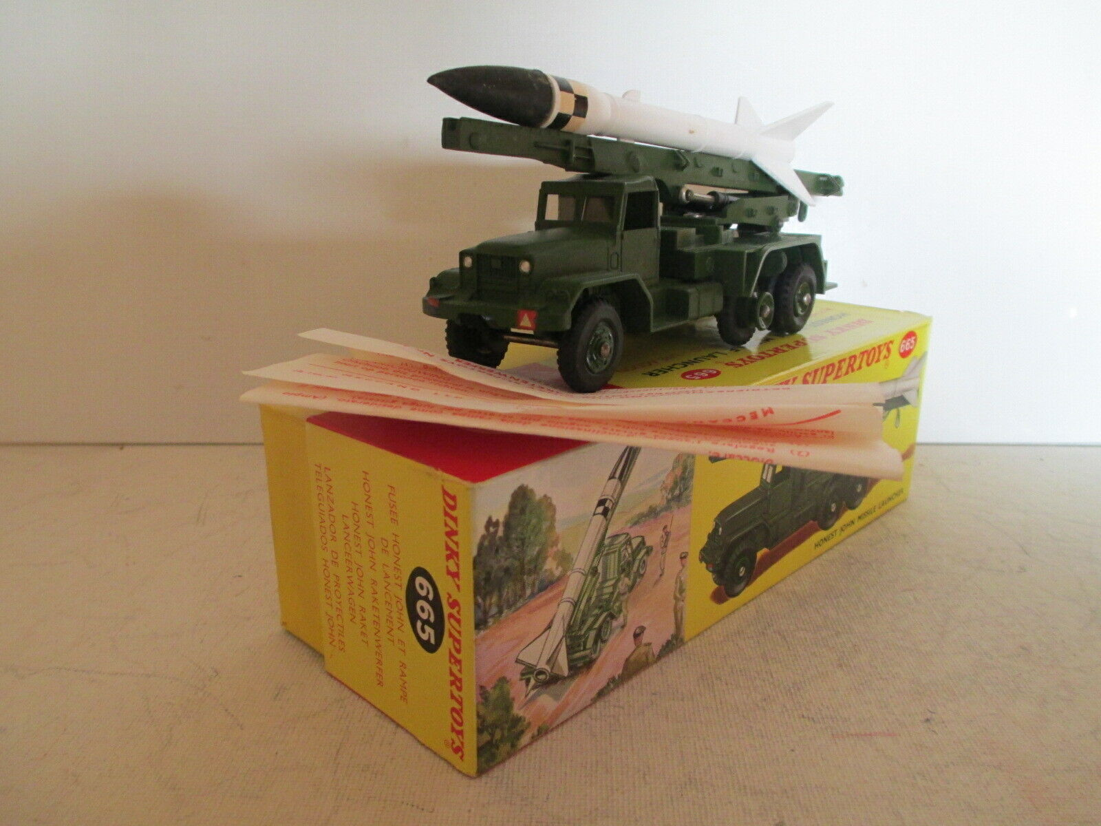 GB DINKY 665 INTERNATIONAL HONEST JOHN MISSILE LAUNCHER MIB 9 EN BOITE L@@K