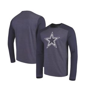 NFL Dallas Cowboys Men s Reggie Tri-Blend Long Sleeve - Navy  134736640