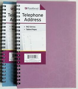 planahead address telephone book 72456 with tabbed pages 6 x 8 25