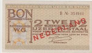 1940-45-Nebengebiete-Niederlande-Bon-voor-2-kilogram-ijzer-en-staal-Rijksbureau