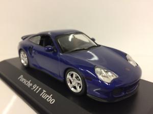 Maxichamps-940069301-Porsche-911-Turbo-996-Blu-Metallico-1999-1-43-Scala