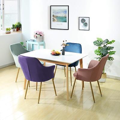 Rosa EGGREE Sedie da Pranzo Moderno Sedia Velluto Poltroncina Cucina con Gambe in Metallo Solide e Sedile Imbottito