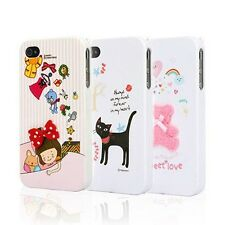 Korean Happymori Front + Back Cartoon Case for iPhone 4S / 4 BUY 1 GET 1 FREE