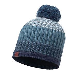 Buff Leisure Borae Primaloft Knitted Beanie Bobble Hat Mazarine Blue ... acda8499f7f