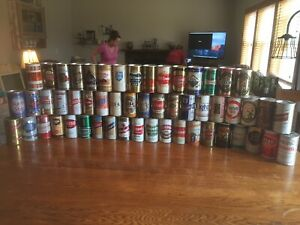 54-BEER-CAN-COLLECTION-LOT-STRAIGHT-STEEL
