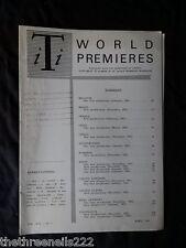 INTERNATIONAL THEATRE INSTITUTE WORLD PREMIER - APRIL 1963 VOL 14 #7