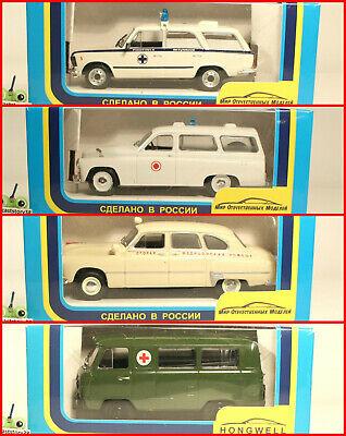 1:43 UAZ 451 452 A 3741 Post 3303 Bus 4x4 russian DeAgostini USSR UdSSR DDR URSS