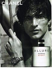 PUBLICITE ADVERTISING 045  2005  CHANEL  parfum ALLURE pour homme