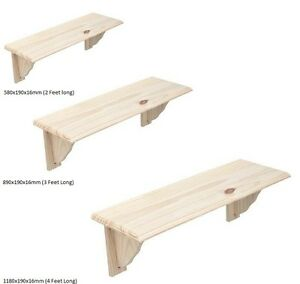 Natural-Wood-Wooden-Shelf-Storage-Unit-Stand-Kit-amp-Fittings-Wall-Mounted-Shelves